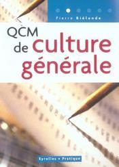 Qcm de culture generale – Pierre Bielande – ACHETER OCCASION – 10/04/2003