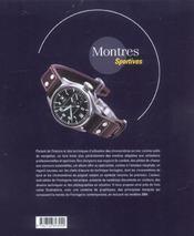 Montres Sportives - 4ème de couverture - Format classique