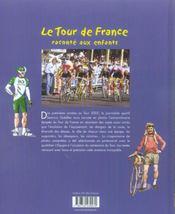Tour De France Raconte Aux Enfants - 4ème de couverture - Format classique