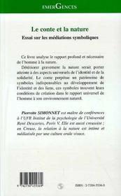 Le Conte Et La Nature : Essai Sur Les Mediations Symboliques - 4ème de couverture - Format classique