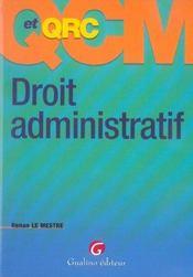 Qcm et qcr droit administratif - Intérieur - Format classique