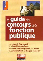 Guide des concours de la fonction publique ; edition 2001-2002 - Intérieur - Format classique
