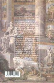 Le voyage d'italie ; récit de 1763 - 4ème de couverture - Format classique