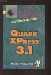 Quark Xpress 3.1 - Couverture - Format classique