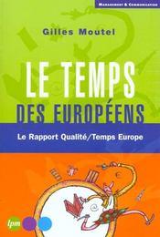 Le Temps Des Europeens - Intérieur - Format classique