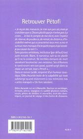 Retrouver Petofi - 4ème de couverture - Format classique