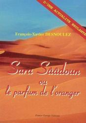 Sara saadoun ou le parfum de l'oranger - Couverture - Format classique