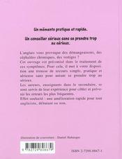 Le Samu De L'Angliciste - 4ème de couverture - Format classique