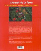 L'avenir de la terre ; le développement durable raconté aux enfants - 4ème de couverture - Format classique