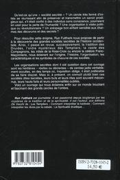 Comprendre Les Societes Secretes - 4ème de couverture - Format classique