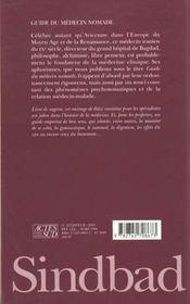 Guide Du Medecin Nomade - 4ème de couverture - Format classique