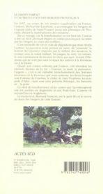 Le Jardin Parfait Et Autres Contes Des Bergers Provencaux - 4ème de couverture - Format classique