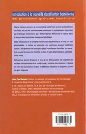 Introduction A La Nouvelle Classification Bacterienne Les Principaux Groupes Bacteriens - 4ème de couverture - Format classique
