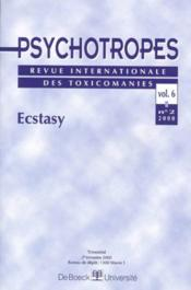 Revue Psychotropes N.6/2 ; Ecstasy - Couverture - Format classique