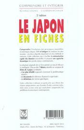 Le Japon en fiches (2e édition) - 4ème de couverture - Format classique