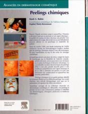 Peelings chimiques - 4ème de couverture - Format classique