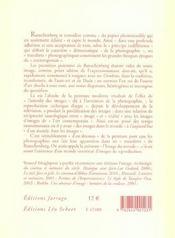 Rauschenberg - 4ème de couverture - Format classique