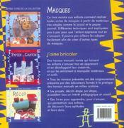 Masques - 4ème de couverture - Format classique