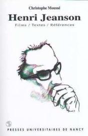 Henri Jeanson. Films, Textes, References - Couverture - Format classique