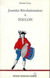 Journees Revolutionnaires A Toulon - Couverture - Format classique