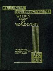KEESING'S CONTEMPORARY ARCHIVES: Weekly diary of important world-events with index continually kept up-to-date. - Intérieur - Format classique