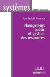 Management public et gestion des ressources - Couverture - Format classique