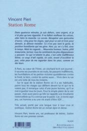 Station Rome - 4ème de couverture - Format classique