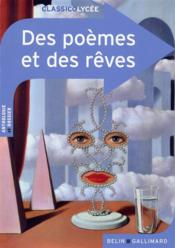 Des poèmes et des rêves - Couverture - Format classique
