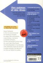 Des poèmes et des rêves - 4ème de couverture - Format classique