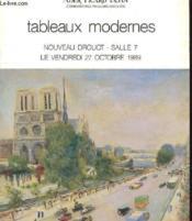 Tableaux Modernes - Nouveau Drouot - Salle 7 - Couverture - Format classique