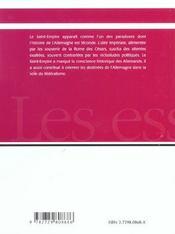 Le Saint-Empire - 4ème de couverture - Format classique
