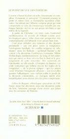 Ismail Kadare - 4ème de couverture - Format classique