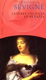 Lettres Choisies Et Pensees - Couverture - Format classique