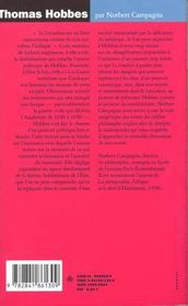 Thomas Hobbes - 4ème de couverture - Format classique