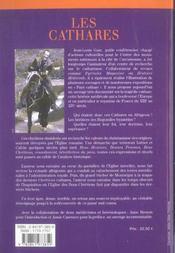 Les cathares - 4ème de couverture - Format classique