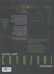 Cryozone ; intégrale t.1 à t.2 - 4ème de couverture - Format classique