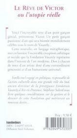 Le Reve De Victor Ou L'Utopie Reelle - 4ème de couverture - Format classique