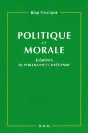 Politique et morale - Couverture - Format classique
