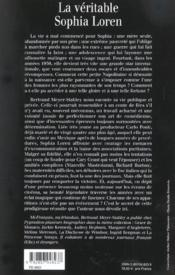La veritable sophia loren - 4ème de couverture - Format classique