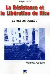 La résistance et la libération de nice : la fin d'une légende ? - Intérieur - Format classique