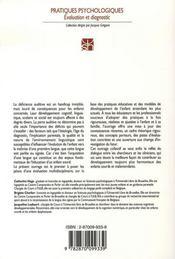 Compétences cognitives, linguistiques et sociales de l'enfant sourd - 4ème de couverture - Format classique