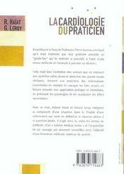 La cardiologie du praticien - 4ème de couverture - Format classique