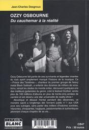 Ozzy Osbourne ; du cauchemar à la réalité - 4ème de couverture - Format classique