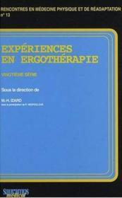 Experiences en ergotherapie 20eme serie - Couverture - Format classique