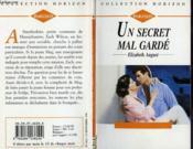 Un Secret Mal Garde - The Nesting Instinct - Couverture - Format classique