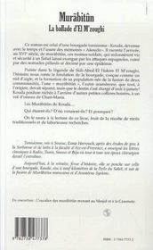 Murabitun ; La Ballade D'El M'Zoughi - 4ème de couverture - Format classique