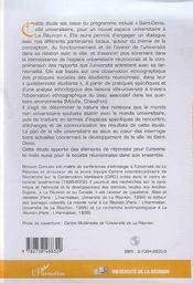 Les Ancrages Urbains Et Sociaux De L'Espace Universitaire A La Reunion ; Des Ethnologues Sur Le Campus - 4ème de couverture - Format classique