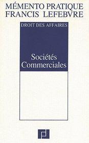 Memento sociétés commmerciales ; droit des affaires (édition 2008) - Intérieur - Format classique