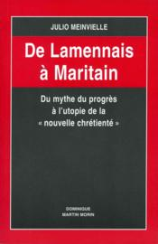 De lamennais a maritain - Couverture - Format classique