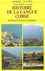 Histoire de la langue corse - Couverture - Format classique